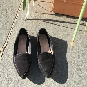 Mia pointed toe suede flat